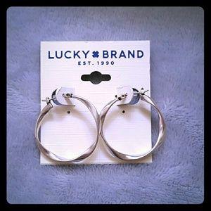 Lucky Brand Twisted Hoop Earrings